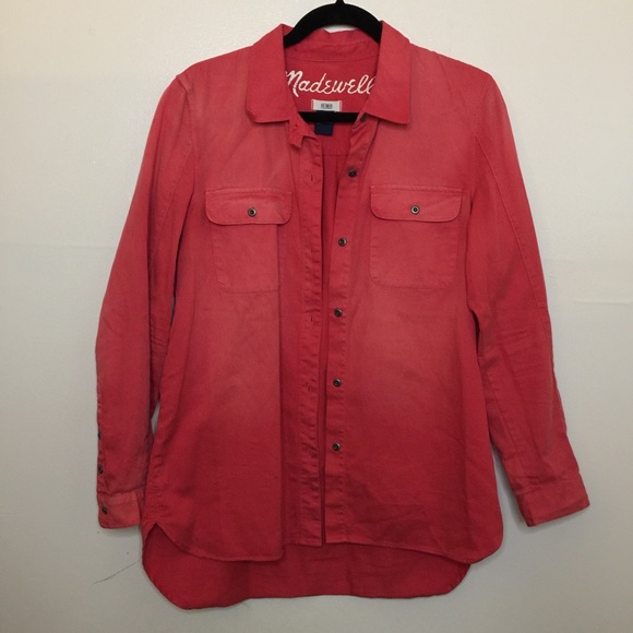 Madewell Tops - Madewell Distressed Button Down Shirt